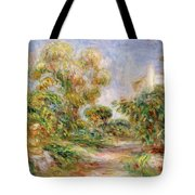 Woman In A Landscape Tote Bag
