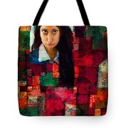 Woman In Abstract 454 Tote Bag