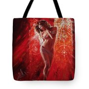Woman In Church Tote Bag