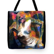 Woman In Color Tote Bag