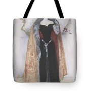 Woman In Evening Clothes And Cape Tote Bag