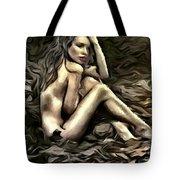 Woman  In Fall #0074 Tote Bag