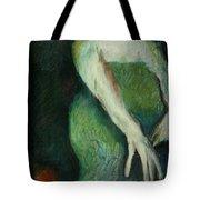 Woman In Green Tote Bag