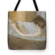 Woman In Her Bath Tote Bag