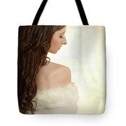 Woman In Her Bedroom Tote Bag