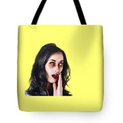 Woman In Horror Makeup Tote Bag