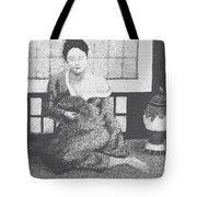 Woman In Kimono Tote Bag by Don Perino