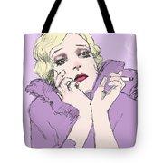 Woman In Lavender Tote Bag