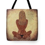 Woman In Lotus Tote Bag