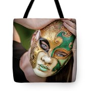 Woman In Mask Tote Bag