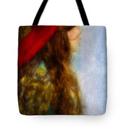 Woman In Medieval Gown Tote Bag by Jill Battaglia