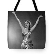 Woman In Metallic Dress, C.1950s Tote Bag