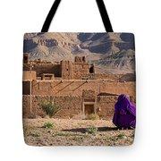 Woman In Purple Tote Bag