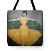 Woman In A Yellow Dress Tote Bag