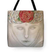 Woman In Scarf Tote Bag