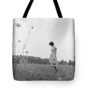 Woman In Summer Meadow, C.1970s Tote Bag