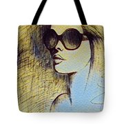 Woman In Sunglasses Tote Bag