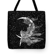 Woman In The Moon Tote Bag