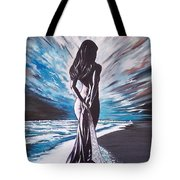 Woman In The Moonlight Tote Bag