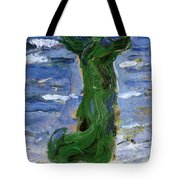 Woman In The Wind By The Sea 1907 Tote Bag