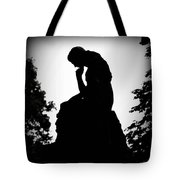 Woman In Thought Tote Bag