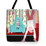 Woman In Wallpaper Tote Bag