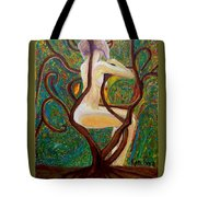 Woman Intrigue Tote Bag