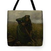 Woman Lifting Potatoes Nuenen, July - August 1885 Vincent Van Gogh 1853 - 1890 Tote Bag