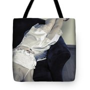 Woman Lying On Chair Tote Bag by Joana Kruse