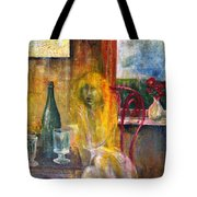 Woman Near Window  Tote Bag