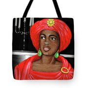 Woman Of The Candelabra Tote Bag