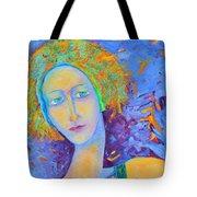 Woman Oil Portrait  Tote Bag