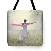Woman On A Lawn Tote Bag