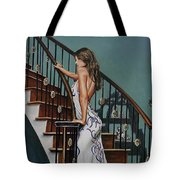 Woman On A Staircase 3 Tote Bag
