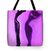 Woman On Pedestal Tote Bag
