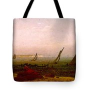 Woman On The Beach Of Rugen  Tote Bag
