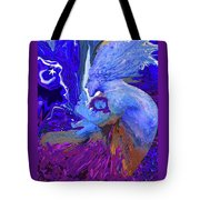 Woman On The Brink Of Civilization Tote Bag