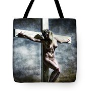 Woman On The Cross I Tote Bag