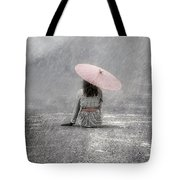 Woman On The Street Tote Bag