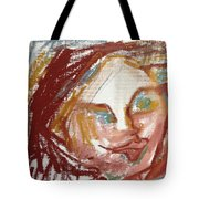 Woman Out Of Present Time Tote Bag
