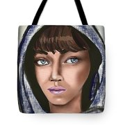 Woman Portrait Tote Bag