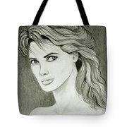 Woman Portrait Tote Bag