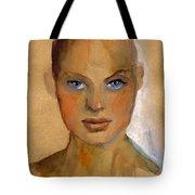 Woman Portrait Sketch Tote Bag