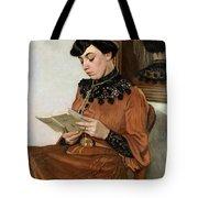 Woman Reading Tote Bag by Felix Edouard Vallotton