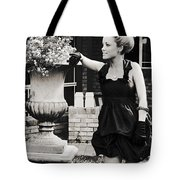 Woman Relaxing In Garden Tote Bag