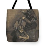 Woman Sewing, With A Girl The Hague, March 1883 Vincent Van Gogh 1853 - 1890 Tote Bag