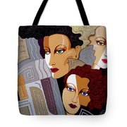Woman Times Three Tote Bag by Tara Hutton