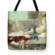 Woman Undressed Tote Bag by Joaquin Sorolla y Bastida