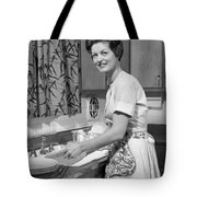 Woman Washing Dishes, C.1960s Tote Bag