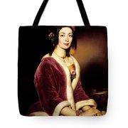 Woman Wearing A Velvet Pelisse  Tote Bag